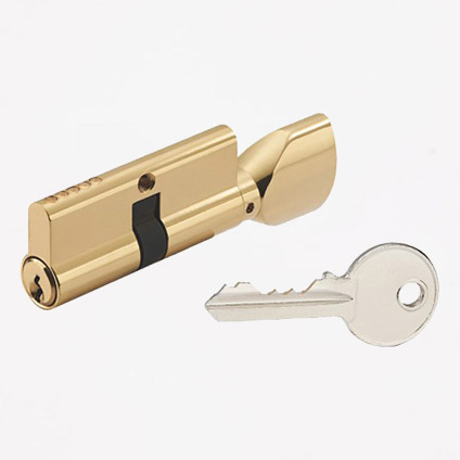 Single Open Cylinder-Normal Key(Removable Knob)
